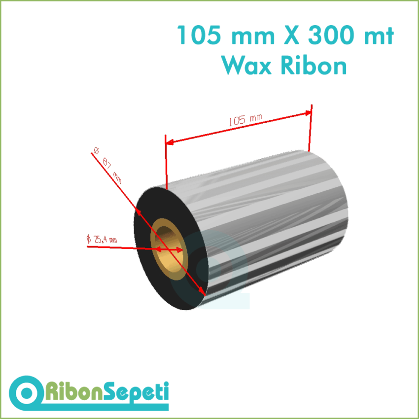 105 mm X 300 mt Wax Ribon Fiyatı (Online Satın Al)