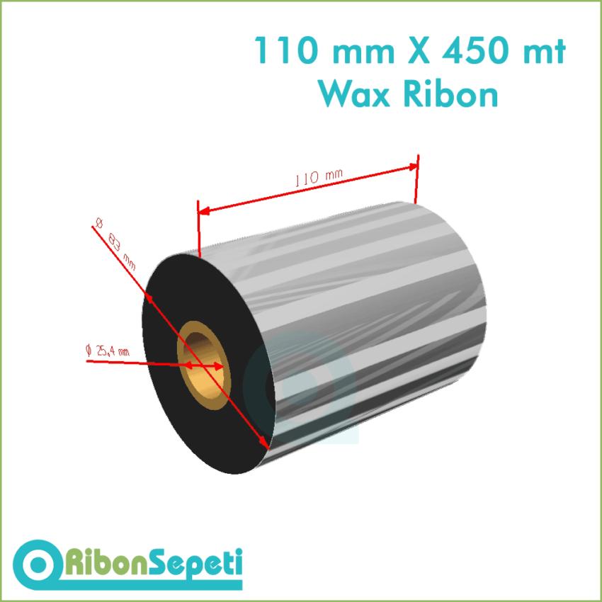 110 mm X 450 mt Wax Ribon (Online Satın Al)