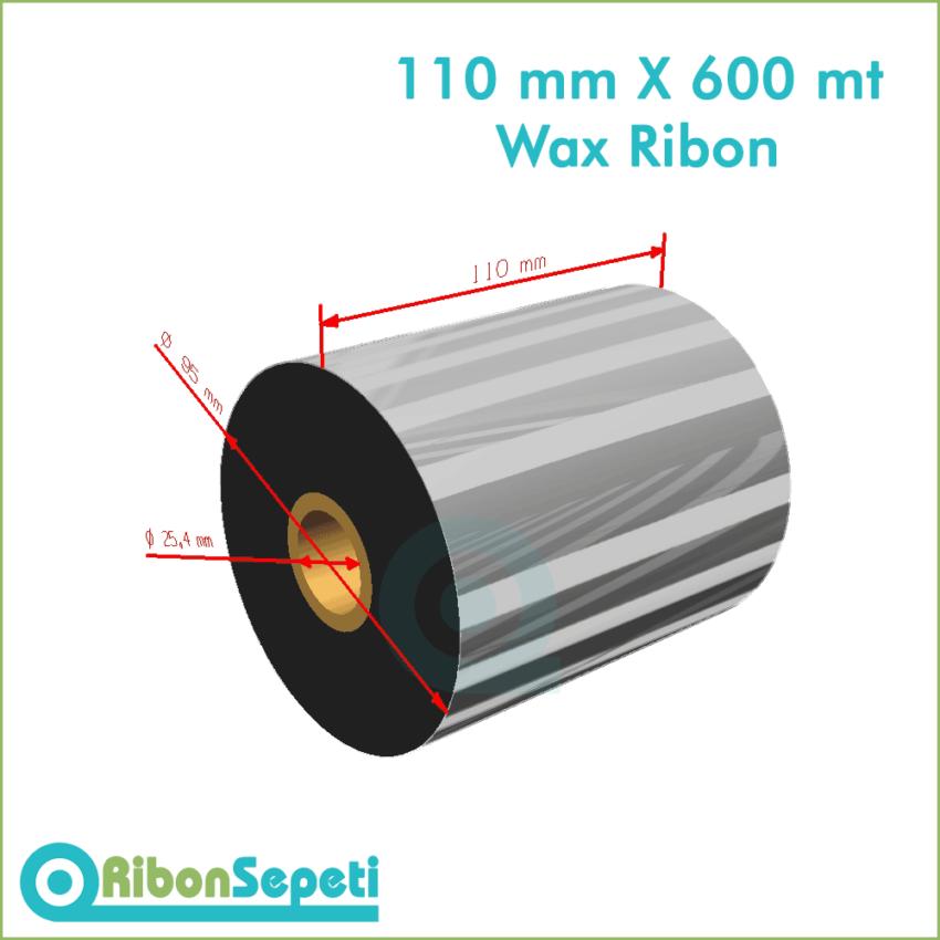 110 mm X 600 mt Wax Ribon (Online Satın Al)