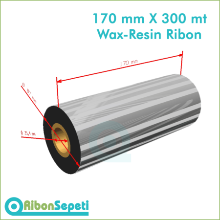 170 mm X 300 mt Wax-Resin Ribon Fiyatı (Online Satın Al)