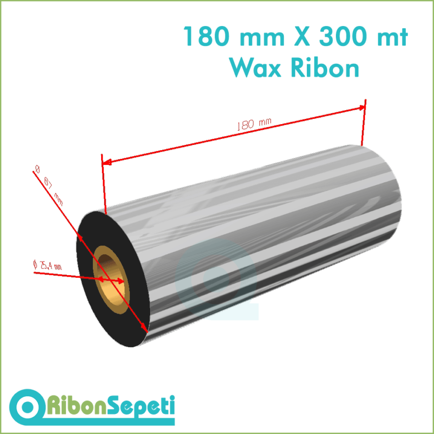180 mm X 300 mt Wax Ribon Fiyatı (Online Satın Al)