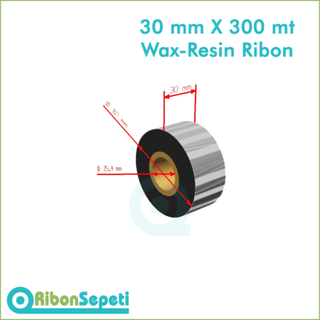30 mm X 300 mt Wax-Resin Ribon Fiyatı (Online Satın Al)