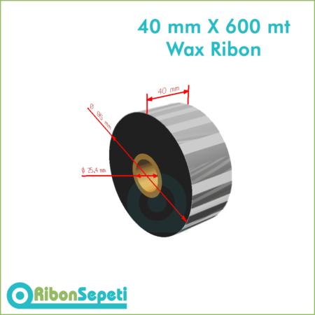 40 mm X 600 mt Wax Ribon (Online Satın Al)