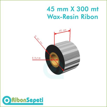 45 mm X 300 mt Wax-Resin Ribon Fiyatı (Online Satın Al)