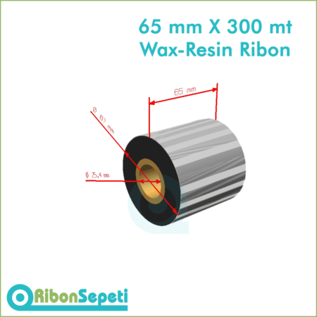 65 mm X 300 mt Wax-Resin Ribon Fiyatı (Online Satın Al)