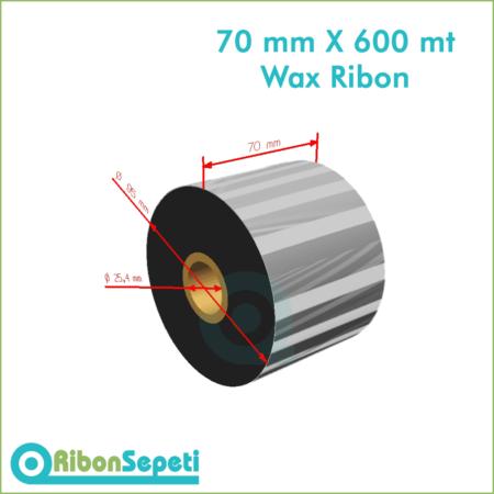70 mm X 600 mt Wax Ribon (Online Satın Al)