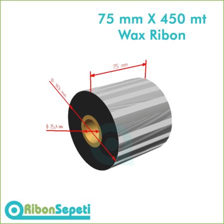 75 mm X 450 mt Wax Ribon (Online Satın Al)