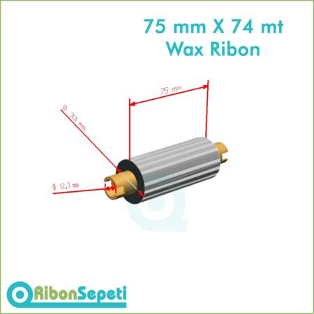 75 mm X 74 mt Wax Ribon Fiyatı (Online Satın Al)