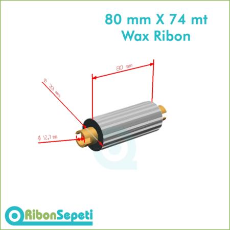 80 mm X 74 mt Wax Ribon Fiyatı (Online Satın Al)