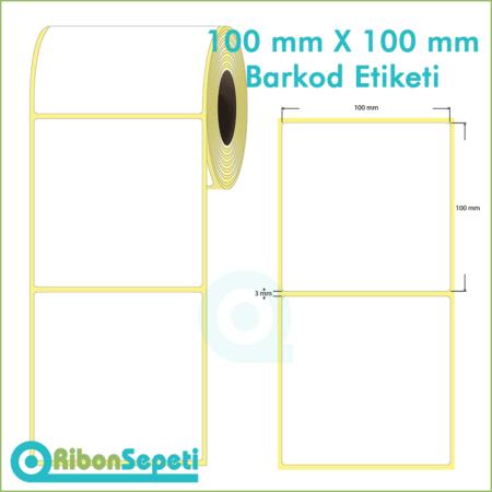 100x100 mm Boş (Beyaz) Etiket