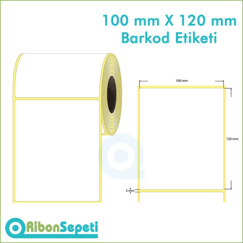 100x120 mm Boş (Beyaz) Etiket