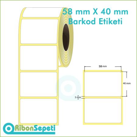 58x40 mm Boş (Beyaz) Etiket