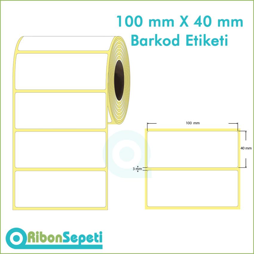 100x40 mm Boş (Beyaz) Etiket