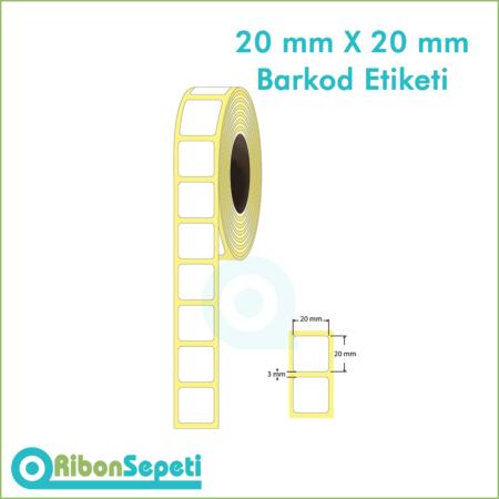 20x20 mm Boş (Beyaz) Etiket