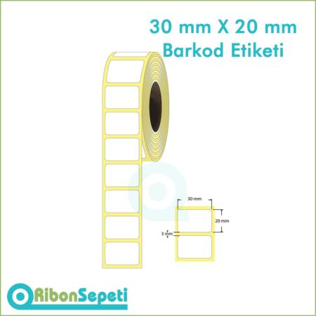 30x20 mm Boş (Beyaz) Etiket