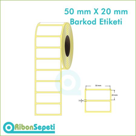 50x20 mm Boş (Beyaz) Etiket