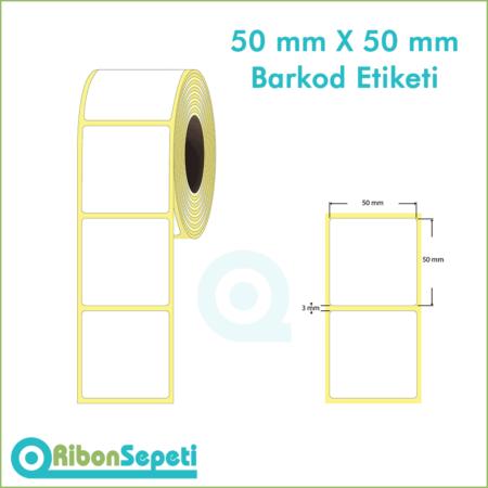 50x50 mm Boş (Beyaz) Etiket