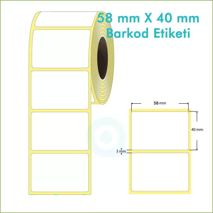 58x40 Yapışkanlı Barkod Etiketi
