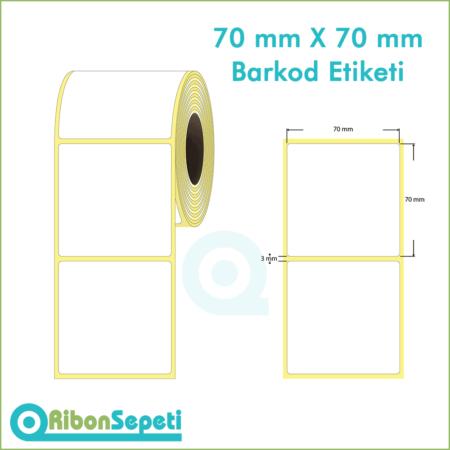 70x70 mm Boş (Beyaz) Etiket