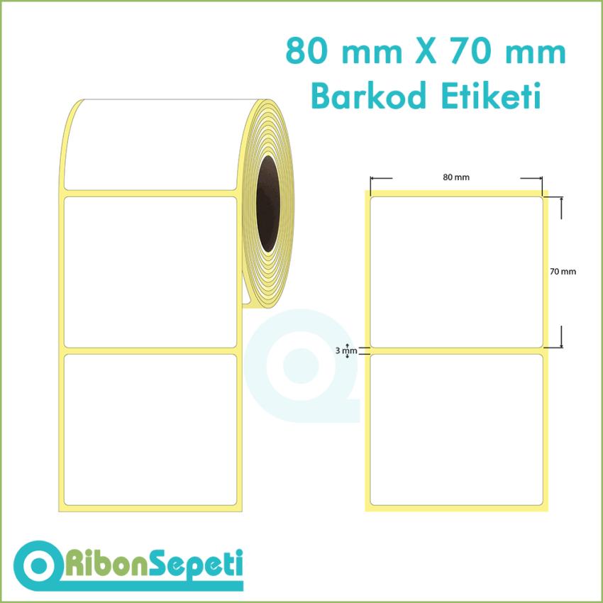 80x70 mm Boş (Beyaz) Etiket