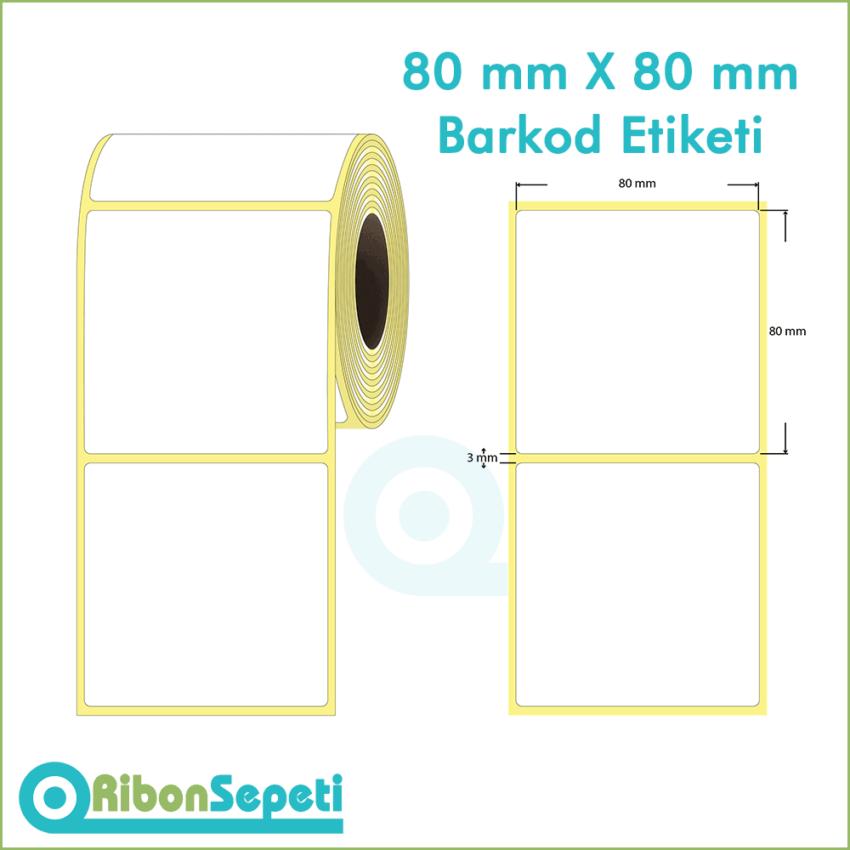80x80 mm Boş (Beyaz) Etiket