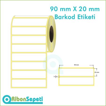 90x20 mm Boş (Beyaz) Etiket