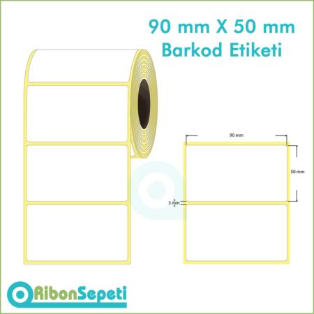 90x50 mm Boş (Beyaz) Etiket