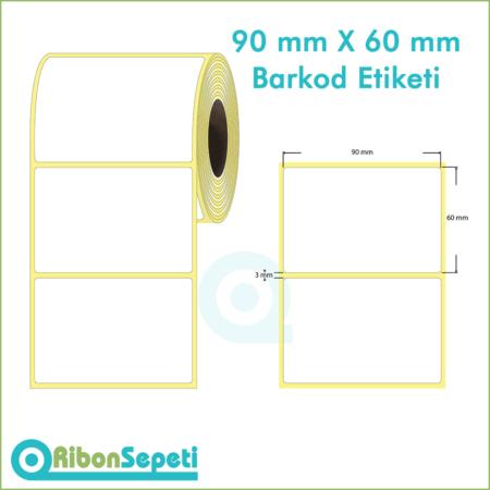 90x60 mm Boş (Beyaz) Etiket