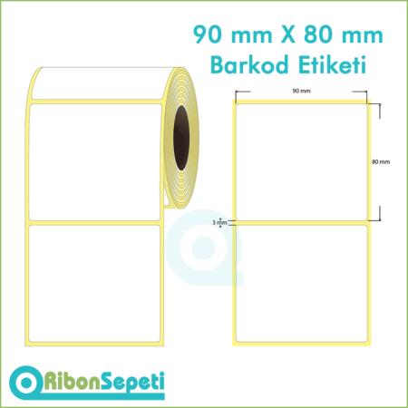 90x80 mm Boş (Beyaz) Etiket