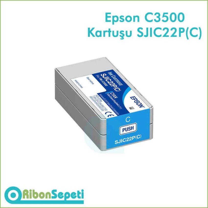 Epson Tm-C3500 SJIC22P Cyan Fiyat