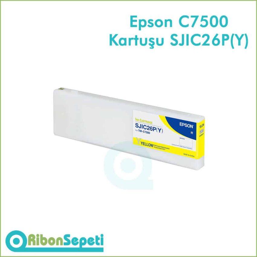 Epson Colorworks TM-C7500 Kartuş Fiyatı SJIC26P(Y)