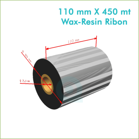 110 mm X 450 mt Wax Resin Ribon (Online Satın Al)